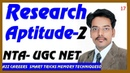 Research Aptitude 2 and Methodology NTA UGC NET Exam Qus 11 to 20 Part 2 in Hindi