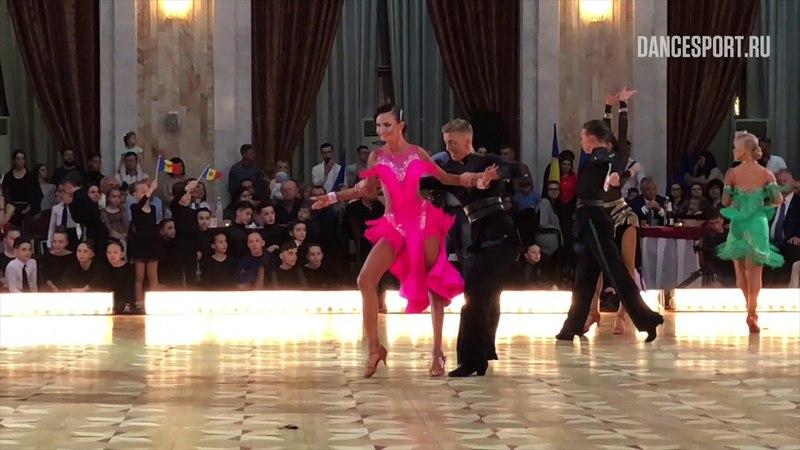 Justas Gedgaudas - Aine Rutkauskaite LTU   WDSF World Championship J2 Ten Dance - Samba