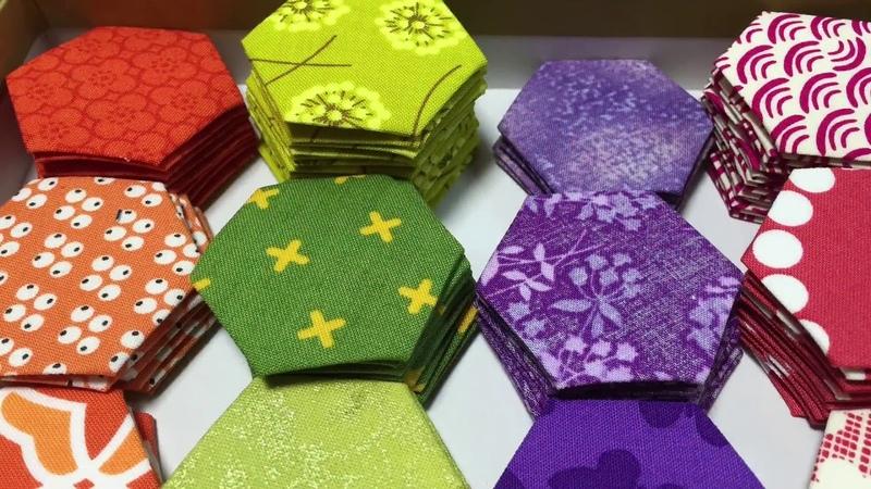 "Patchwork Quilt パッチワークVol.20 Hexagon quilt Quilt process ""Grand mother'sGarden""グランドマザーガーデン"