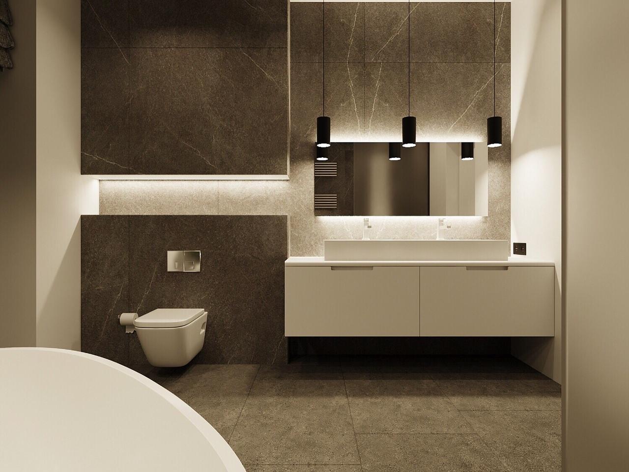 Проект С/У, выполненного в минималистическом стиле от дизайн студии «Design21»