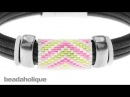 How to Add a Peyote Stitch Bead to Regaliz Leather Alternative Bracelets