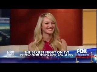 Candice Swanepoel on Fox and Friends Promoting Victoria's Secret Fashion Show