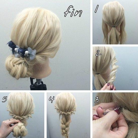 Прически на волнистые волосы своими руками на каждый день