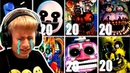 НА МАКСИМАЛКАХ! Новый ОФИС ФНАФ ЧЕЛЛЕНДЖ Five Nights at Freddy's Ultimate Custom Night ФНАФ Анимация