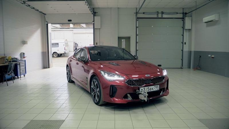 KIA Stinger GT 0-100 км.ч. профессиональный замер на Дмитровском полигоне
