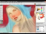 Bikini Babe Painter X painting tutorial with audio instructions Part 7/15
