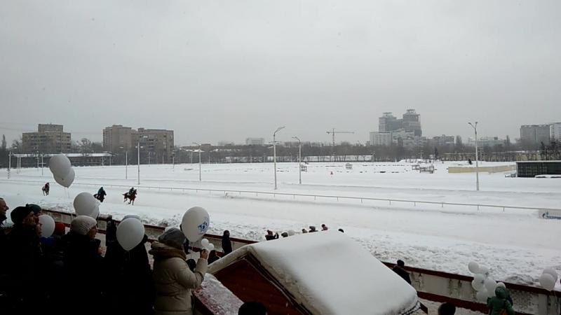 Зимние скачки. Центральный московский ипподром