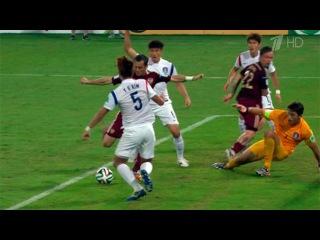Репортаж о матче Россия - Южная Корея.