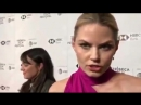 Jmo speaking with Pamela Powell about women in film on the red carpet