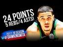 Jayson Tatum Full Highlights 2018 ECSF Game 3 Boston Celtics vs 76ers - 24-5-4! | FreeDawkins