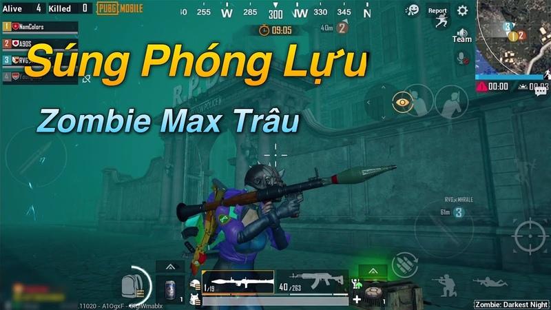 PUBG Mobile | Trải Nghiệm Chế Độ Zombie Siêu Khó [Mới] - Súng Phóng Lựu RPG-7 Cực Mạnh √