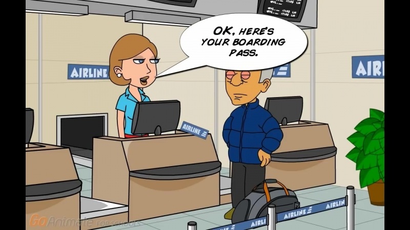 Animated English Lesson - Airport Check-in