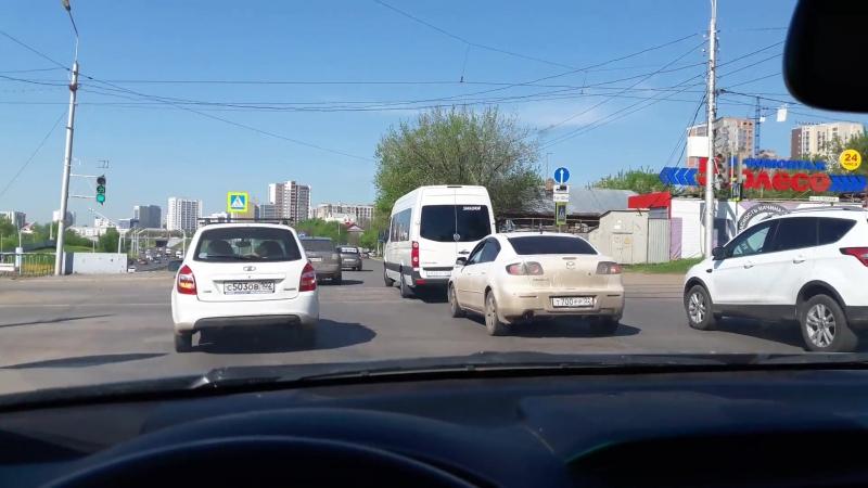 Съезд на проспект Салавата Юлаева 23.05ю18