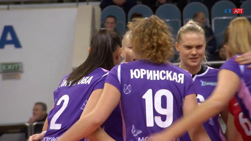 Волейбол ЧР женщины 13-й тур Заречье Одинцово vs Динамо Метар