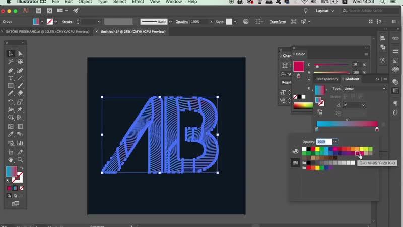 Make Mesh Logo Design In Illustrator (2 LOGOS) - Illustrator Logo Tutorial