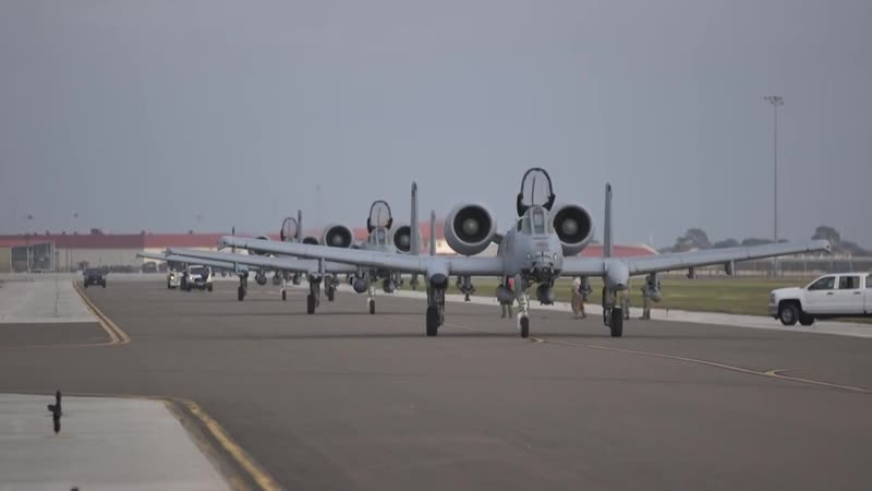 163rd Fighter Squadron A-10s bring Operation Guardian Blitz to MacDill TAMPA, FL, UNITED STATES