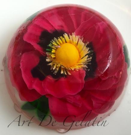 3D Gelatin Art Poppy Gelatinas Artistica paso a paso floral