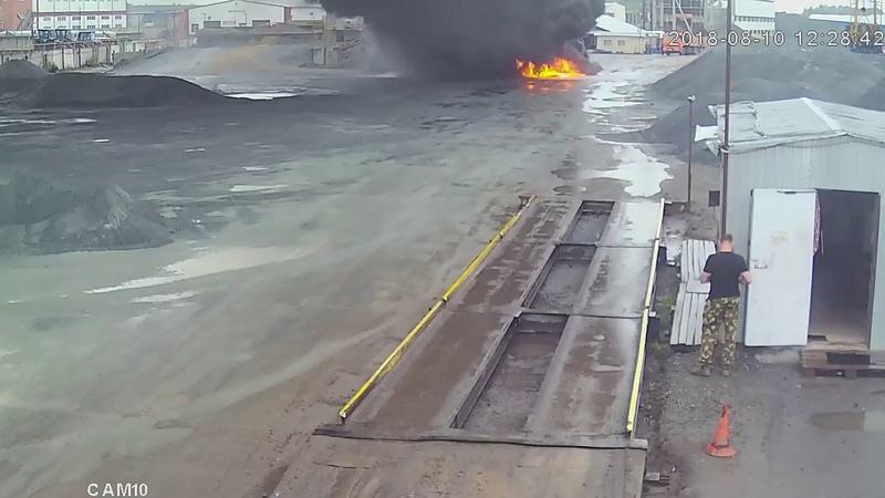 Как начинался крупный пожар на омском заводе Вблизи