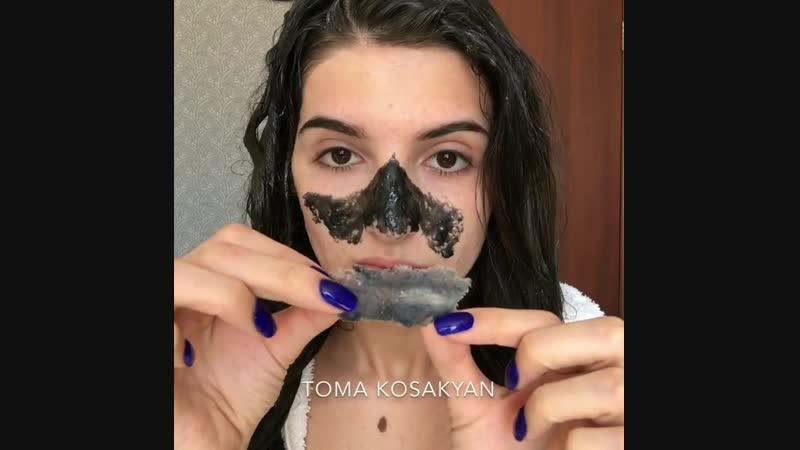 Питательная маска для волос маска от черных точек