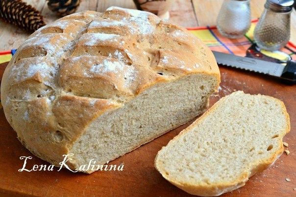 Пшенично-ржаной хлеб в духовке от Елены Калининой.