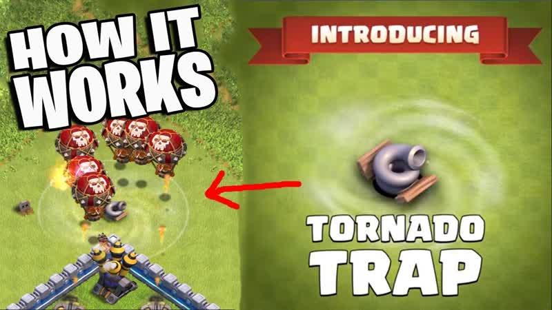 Новая ловушка будет доступна уже в октябре - торнадо! Замедляет продвижение войск противника! Можно будет построить с 11 ТХ!