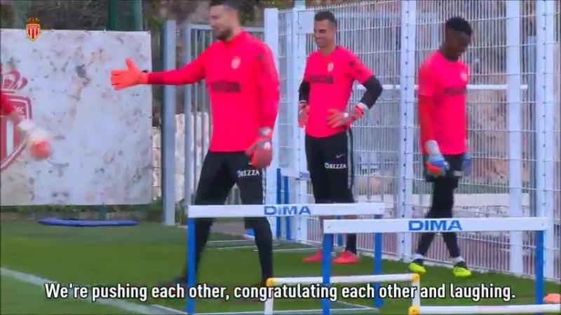 Как тренируются вратари в ФК Монако - 2