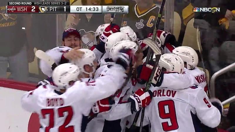Победный гол Кузнецова в серии Вашингтон - Питсбург 08.05.2018