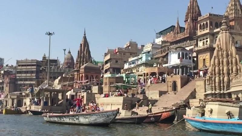 Varanasi. Manikarnika Ghat.