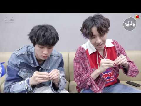 BANGTAN BOMB Jin j hope Play with Earrings BTS 방탄소년단