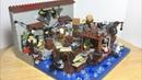 Лего Самоделка на тему Зомби Апокалипсис Торговая Баржа