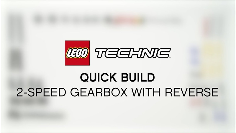 Quick build: Check how to build the 2-speed gearbox from LEGO Technic