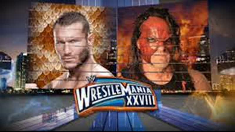 WWE Mania WrestleMania XXVIII Randy Orton vs Kane