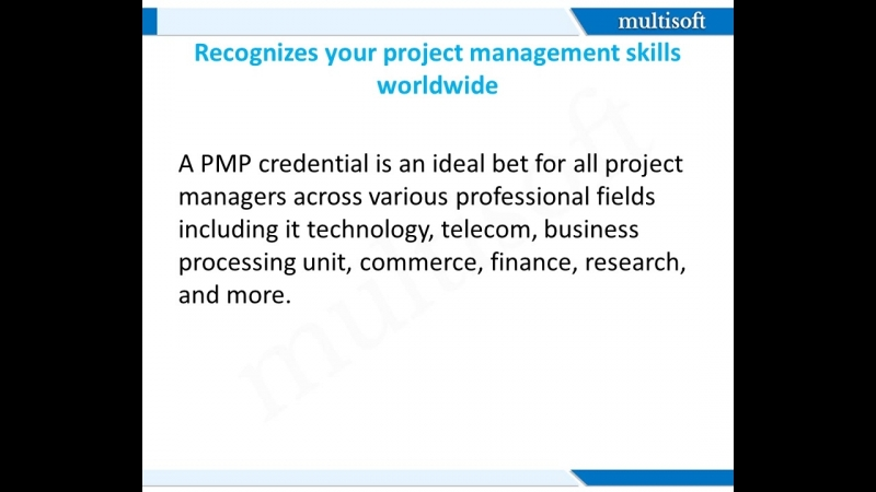 5 Amazing Benefits Of PMP Certification @Multisoft Systems