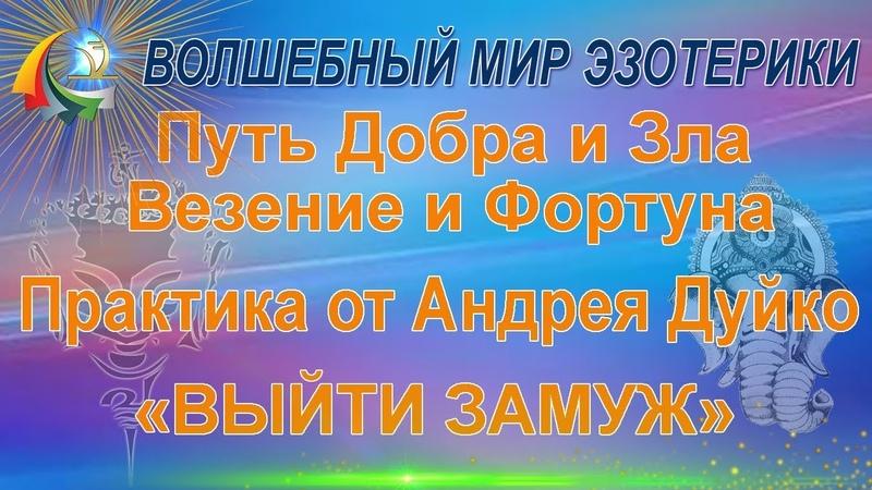 Бесплатный Вебинар А Дуйко Путь добра и зла Везение Фортуна Выйти замуж