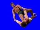 Gachimuchi Danny Lee wringing Billys hands on a blue screen Дэнни Ли заламывает руки Билли на синем экране