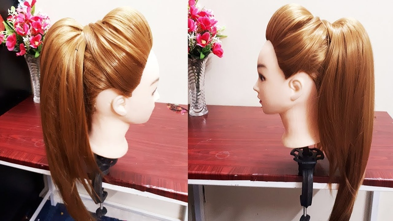 MESSY HIGH PONYTAIL WITH PUFF HAIRSTYLE | DIY EASY HAIRSTYLE FOR COLLEGEWORKPARTY