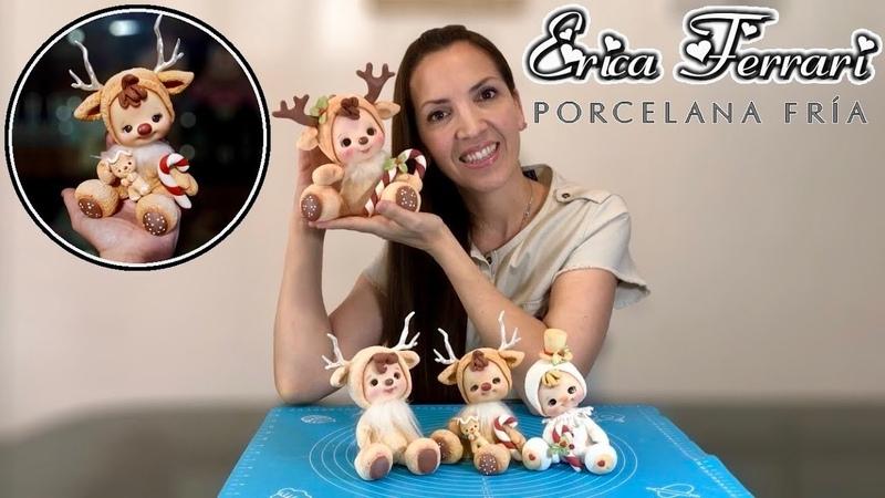 🐶 Erica Ferrari Porcelana Fría | Muñeco de Navidad | Clase Gratis | DIY | Tutorial Fácil