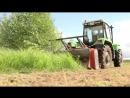 Работа мульчера в поле - Железный Дровосек