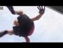 Trampoline Fun! - boy shows his feet on trampoIine