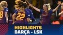 FC BARCELONA 3-0 KVINNER | Match highlights (UWCL)