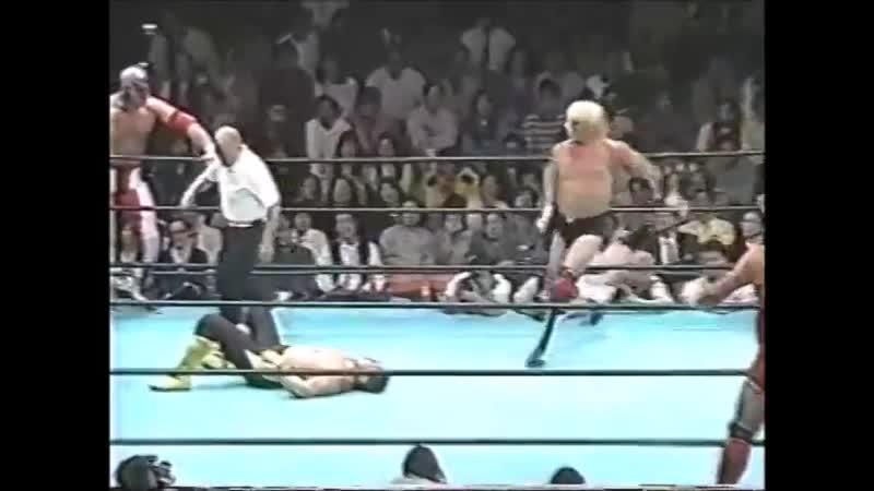 1996.05.17 - Steve Williams/The Patriot/Johnny Ace vs. Toshiaki Kawada/Gary Albright/Tamon Honda [JIP]