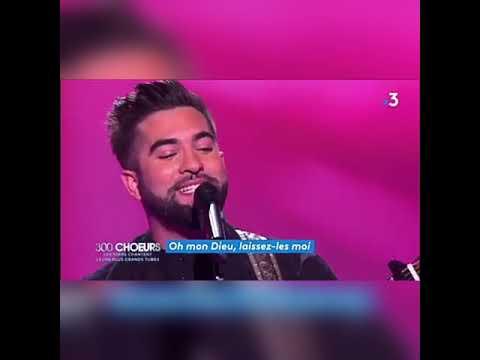 Kendji Girac-Reprise de la chanson. Les yeux de la maman hier soir dans l'émission (300 CHOEURS)