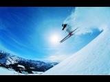 Скоростной спуск на лыжах.