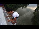 Rope jumping by Slobodian Maksim ( прыжки с моста ,Житомир)