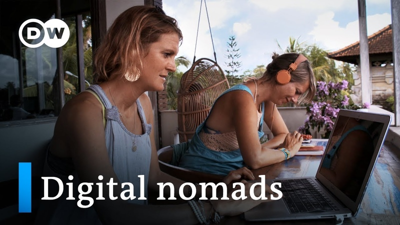 На английском - Working online and traveling the world - digital nomads | DW Documentary