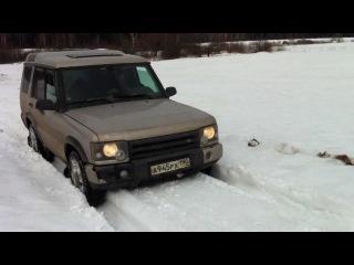 Мой Land Rover Discovery без TC, включена блокировка межосевого дифференциала