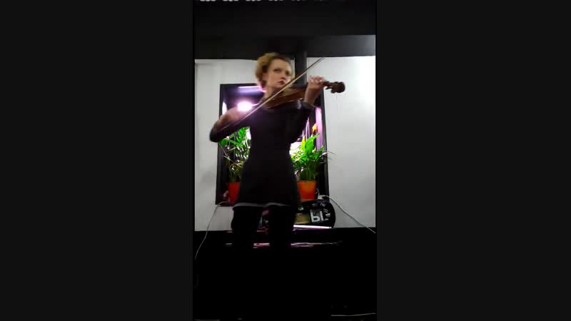 Ирландские мотивы в процессе электро скрипка Dia ViolinA