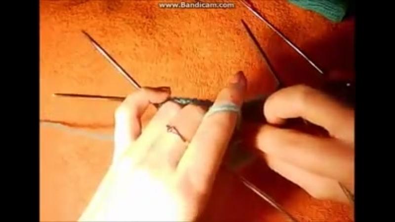 Как связать носкина 5 спицах для начинающих.Вязание пятки спицами.Вязаные носки описание.[1]