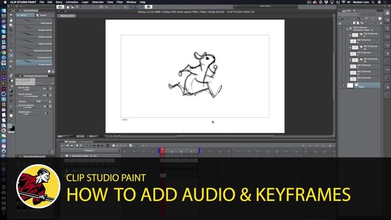 Audio Keyframes 2D Camera Clip Studio Paint