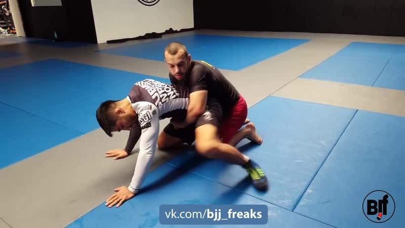 Talgat Ilyasov Lichlan Giles Reversing the turtle position bjf wrestling